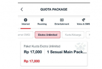 Paket Exstra Unlimited Telkomsel