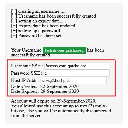 Buat Akun SSH SSL/STUNNEL