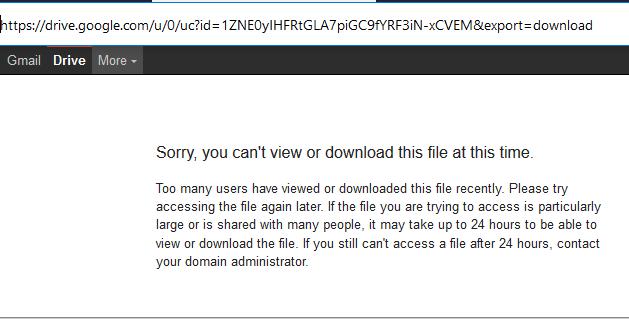 mengatasi file download google drive limit