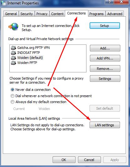 Setting di PC/Komputer
