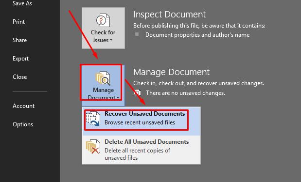 cara mudah mengembalikan file word yang tidak tersimpan