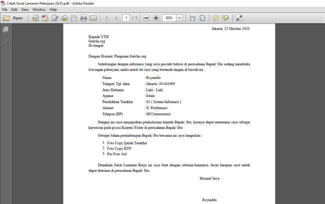 membuat surat online