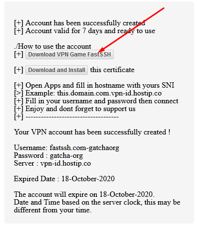 Aplikasi VPN Game FastSSH