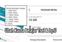 Trik Ubah Kuota Belajar Rp10 Tsel dan by.U