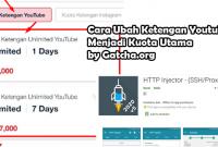 Trik Ubah Kuota Ketengan YouTube Tsel