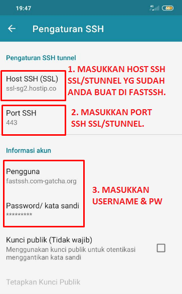 Input Akun SSH ke HTTP Injector: Config HI Tsel Unlimited MAX Apps