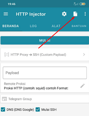 Import Config HTTP Injector