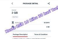 Cara Membeli Kuota 2 GB 10 Ribu 30 hari Telkomsel