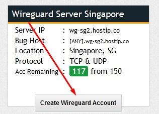 Buat Akun Wireguard Gratis
