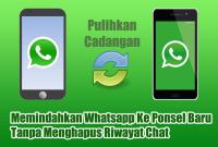 Memindahkan Whatsapp Ke Ponsel Baru Tanpa Menghapus Riwayat Chat