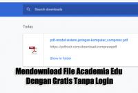 Cara Mendownload File Academia Edu Dengan Gratis Tanpa Login