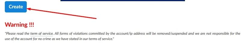 Buat akun Howdy Trojan VPN