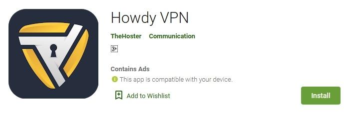 Download Aplikasi Howdy VPN