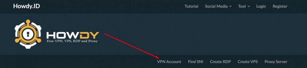 Buat Akun Howdy Trojan VPN Gratis