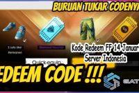 Kode Redeem FF 14 Januari 2021 Server Indonesia
