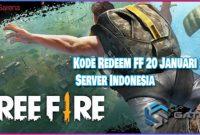 Kode Redeem FF 20 Januari 2021 Server Indonesia