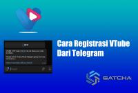 Cara Registrasi VTube Dari Telegram