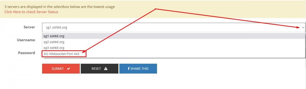 Buat akun SSH WS (Websocket)