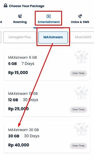 Beli Paket MAXstream Tsel